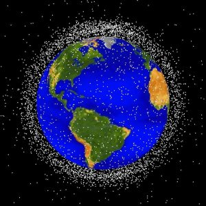ruimteafval, artist impression, ESA
