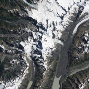 Lawine vanuit satelliet
